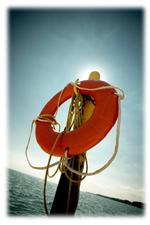 life-preserver-on-pole